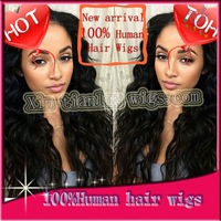 Fast delivery Free shipping Hot sale 100% Brazilian virgin hair Yaki straight #2 Dark brown Lace front wig Human hair wigs