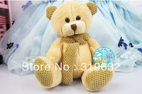 Sitting 23.5cm,2PCS 5% OFF,Plush Toy Teddy Bear ,new style bear ,fashion bear  Or Promotion Gifts,4 Colors,1PC
