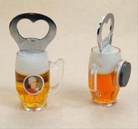 free shiping 20pcs/lot  resin Acrylic fridge magnet Beer bottle opener  Refrigerator magnet wholesale  Dialog Box Magnet