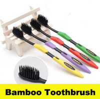 Personal care 12pcs HOT sale 4pcs/sets Korea Bamboo charcoal toothbrush wholesale all stock