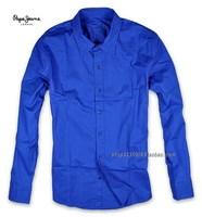 Eslpodcast pepe jeans Men gem blue slim long-sleeve shirt