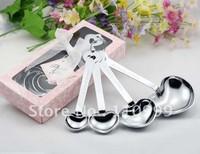 10SETS/lot  - wedding gift of measuring spoon set of 4 measuring spoon in pink gift box