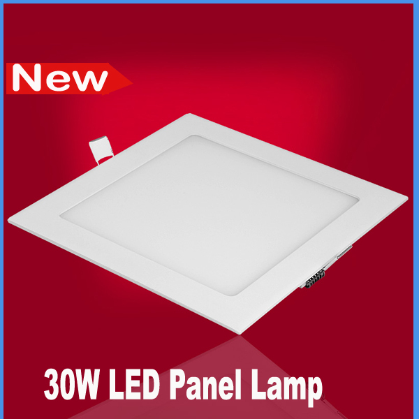 Promotion 30W led panel downlights white slim kitchen bedroom light bulb lamp AC85-265v(China (Mainland))