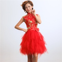 Cheongsam married 2013 evening dress the bride cheongsam fashion improved cheongsam 03