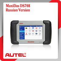 Russian version !! 2015 Original Autel MaxiDAS DS708 Automotive Diagnostic System Full Package DS 708 Free Update Via Internet