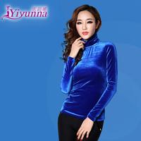 2014 Spring and Autumn women tight thickening velvet top basic turtleneck shirt long-sleeve T-shirt female