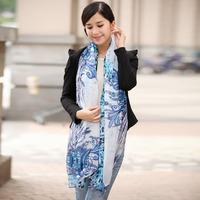 Mulberry silk long design silk scarf cape scarf female hangzhou silk embroidery needlework