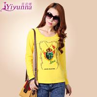 Women's autumn 2014 plus size clothing t shirt fashion  basic shirt long-sleeve T-shirt female
