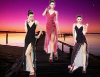 2013 prom evening dress sexy temptation ds costume long design formal dress uniform