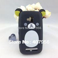 New Design Rilakkuma Lazy Bear Soft Back Case for Nokia Lumia 610 Lumia610,With high quality,1pcs/lot