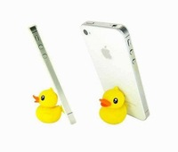 Yellow Duck Plunger Sucker Stand Holder for Iphone 3G 4G ipod Cell Phone