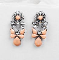 New 2014 stud earrings Trend fashion korean shourouk earring crysta vintage Earrings for women jewelry Factory Price #0166