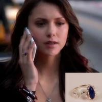 No Mini Order.M008.Fashion bijoux jewelry.The Vampire Diaries elena rings SILVER PLATED