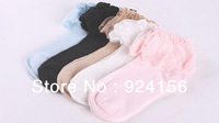 Free Shipping Fashion Vintage Lace Ruffle Frilly Ankle Socks Ladies Princess Girl Gift