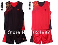 Free shipping double-sided basketball clothes breathable mesh sportswear