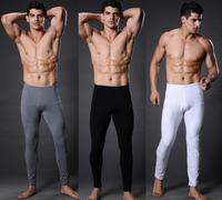 XUBA Men's High Waist Cotton Long John Thermal Underwear Warm Pants