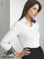 Women's long shirt cotton office lady shirt women clother