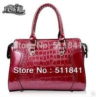 2014 New Rose Meier patent leather women's handbag shoulder bag banquet bag eight-color, free shipping