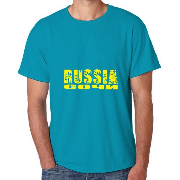 2014 verão moda personalidade t- shirt chinês men's t- shirt da rússia para sochi 2014 futebol copa do mundo
