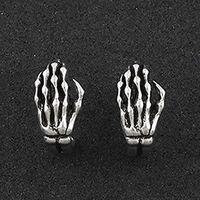 Hot Sale Fashion Skeleto Hand Ear Stud Rock Bone Skull Hand Earrings