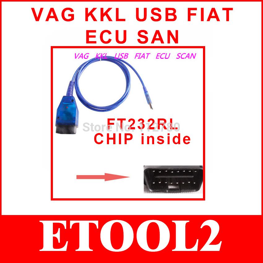 VAG KKL USB OBD2 Fiatecuscan SWITCH Fiat Ecu Scan cable AirBag Alfa Lancia Romeo / Fiat ABS MultiECUScan Comaptible Interface(China (Mainland))