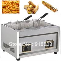 3 in 1 Tornado Potato/Twister Potato/Spiral Potato Cutter + LPG Gas Deep Fryer + 35cm Bamboo Skewers