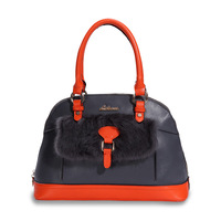2014 new fashion leather handbags luxury fur shell-type shoulder bag hand handbag women handbag