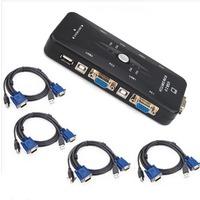 4 Port USB 2.0 KVM VGA/SVGA Switch Box Adapter NEW
