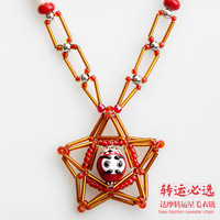 Free shipping Accessories necklace female transhipped long design handmade red accessories pendant jewelry female necklace