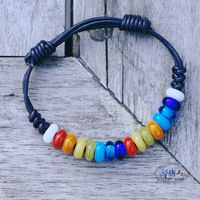 Free shipping Bracelet female fashion candy color colored glaze beads colorful limited edition !