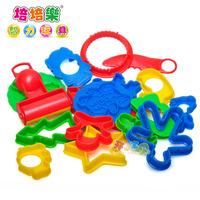 FREE SHIPPING Multi-colored mud tools plasticine tools mould plastic toy animal set