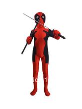 envío gratis los niños 2014 deadpool fullbody traje rojo negro deadpool niños disfraces para halloween mostrar el partido(China (Mainland))