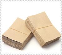 200pcs/lot Cowhide small paper tea bags 6x9cm aluminum foil tea tin packaging bag paper bag general packaging