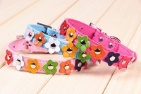 Free shipping 2014 new flower decoration dog collar