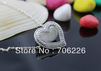 gift silver necklace pendant,silver crystal pendant ,high quality Silver pendant, fashion jewelry HP00065
