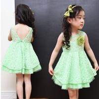 Girl dress Children outerwear kids dresses for girls kids clothes summer female child princess one-piece dress free shipping