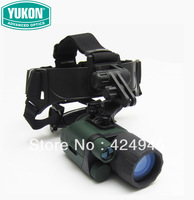Genuine licensed YUKON Spartan 3x42 Night Vision Monocular wearing a helmet HD