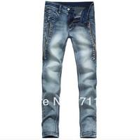 Free shipping 2013 new men's jeans. Slim pants