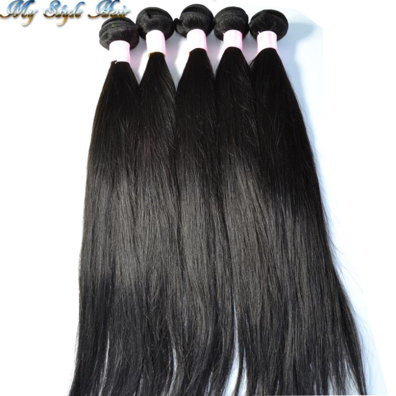 grau 5a misturado comprimento 4 feixes ou 5pcs lote 100% cru cabelo indiano