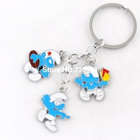 Free shipping chaveiro figura nice design keychains alloy figure trinket wholesale high quality cartoon boys playing keyrings