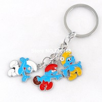 Free shipping meninos chaveiro blue figure children key rings fashion trinket wholesale high quality boys keychains 2014 popular