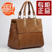 2014 Women's Genuine leather handbag autumn women's fashion genuine leather handbag quality fashion nubuck leather handbag