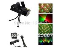 Black Mini Projector DJ Disco Light Stage R&G Party Laser Lighting Show Plug