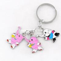 Free shipping llaveros animales fashion animal design keyrings enamel pendant trinket wholesale high quality elephant keychains