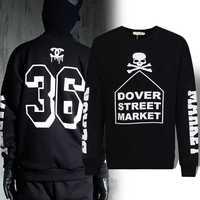 Free shipping  Fashion Boy and Girl Women men's clothing lettrt print pullover skull sweatshirt casual Outwear