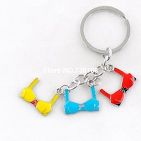 Free shipping chaveiro sensuais sexy design keyrings enamel bra pendant wholesale high quality sex appeal brassiere keychains