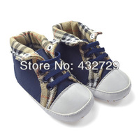 FREE SHIPPING----Baby Girl/Boy Plaid Shoes Baby Soft Sole Shoes Spring/Autumn Footwear First Walkers Non-Slip Shoes 1pair