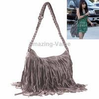 Fashionable Weaving Fringed Stlye Leather Single-shoulder Bag
