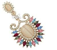 Fashion jewelry fashion sweet OL wind crystal opal necklace free shipping