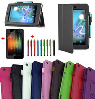"3cs/lot(case+ film+pen)Folding Folio Leather Case Cover Skin for  For 7"" HP Slate 7 Extreme/Slate 7 HD Tablet Free Shipping"